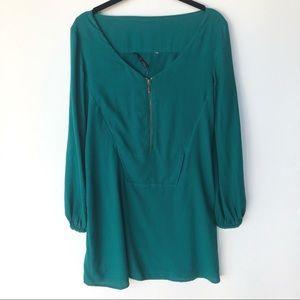 Zara Collection Emerald Green Mini Shift Dress